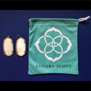 KENDRA SCOTT Danielle Earrings white gold EUC